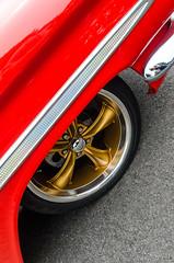 Bronze spokes (GmanViz) Tags: gmanviz color car automobile detail goodguysppgnationals nikon d7000 1959 chevrolet elcamino fender wheel tire bumper chrome custom