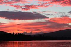 Loch Lomond Sunset -Balloch Scotland UK (Glyn Owen Photography & Image-Art) Tags: loch lomond balloch lake serene sunset red glow mountains reflections scotland dusk clouds cloudscape forest treeline trees nature sun