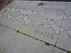 Boonville Pirates, Boonville, MO (Robby Virus) Tags: boonville missouri pirates skull crossbones team sports football high school stencil art artwork street