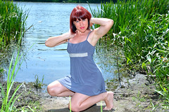 DCS (9) (dmitriy1968) Tags: portrait  nature  beautiful girl wife  people evening erotic sexsual   summer   river   swimsuit  tan  dress