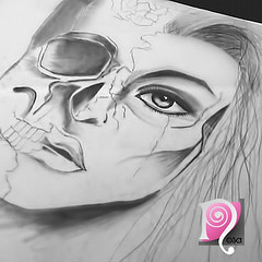 IMG_3181 (Nllo) Tags: draw drawing girl eye skull