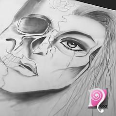 IMG_3181 (Nllo) Tags: draw drawing girl eye skull رسم بنت جمجمه عيون رسمتي رسمه