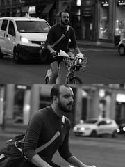 [La Mia Citt][Pedala] con il BikeMi (Urca) Tags: milano italia 2016 bicicletta pedalare ciclista ritrattostradale portrait dittico bike bicycle nikondigitale mir biancoenero blackandwhite bn bw 88995 bikemi bikesharing