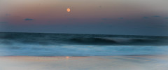 Moon and Waves (wolfpackWX) Tags: atlanticocean clouds fall landscape landscapes moon nature ocean orange sky travel water