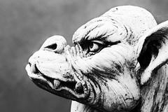 The Guardian (Thunder1203) Tags: profile portrait canon blackandwhite monochrome statue gargoyle