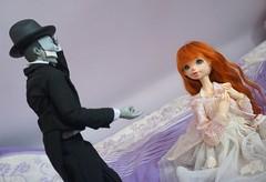 Rhia and the Phantom (raciele) Tags: atelier momoni bjd balljointeddoll ball jointed doll dolly cute kawaii sweet fairy kei mori