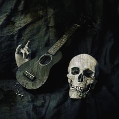 Dark side of ukulele (Sanna Taas) Tags: skull ukulele
