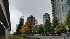 Overcast Autumn day (D70) Tags: overcast autumn day 265366 patterson skytrain station burnaby bc canada highrises apartments condominiums