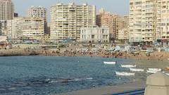 An overview for public beach in Alexandria (Kodak Agfa) Tags: egypt alexandria cities africa northafrica mediterraneansea publicbeach sea spring mideast middleeast palaces azizafahmy azizafahmypalace