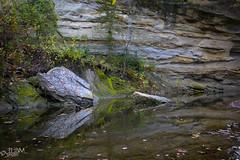 Echo Cliff (JLDMphoto) Tags: nikon d7200 1685 landscape waterscape kansas rock cliff reflection nature dover
