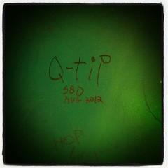 Q-tip (sbd)... ((team enemy)...) Tags: instagramapp square squareformat iphoneography uploaded:by=instagram lofi qtip sbd south bound destination hobo graffiti moniker cheyenne wyoming wy wyo