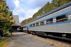 NYC colors (Michael Berry Railfan) Tags: adirondacks adirondackscenicrailroad adirondackscenic saranaclake adix