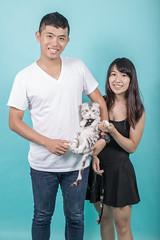 IMG_0558 (Kevin---007) Tags: couple cat pard green grass por portrait