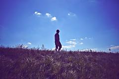 Enjoy The Silence (anvelvet) Tags: depeche mode prelog croatia sky grass man walk walking clouds blue retro music thinking