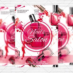 Nails Salon - Free Club and Party Flyer PSD Template (ExclusiveFlyer) Tags: free freeflyer freepsd psdflyer freetemplate bestflyerdesign beauty manicure nailpolish nailsalon nails pedicure salon spa