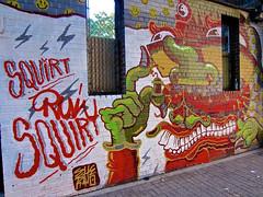 Squirt, New York, NY (Robby Virus) Tags: newyorkcity newyork ny nyc city manhattan bigapple sheryo yok mural street art squirt run
