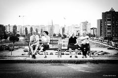 The 2 sides of life (peter3400) Tags: street sonyalpha sony streetphotography ilce a7ii tirana albania summer 2016 minolta minolta4ever 3570f35 md rokkor bw blackwhite blackandwhite