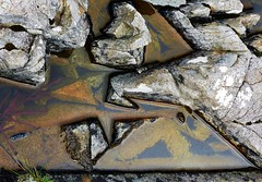 sharp (Edinburgh Nette ...) Tags: mull september16 lochbuie rockpools angular geometric shapes lichens rocks colour