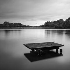 Carr Mill Dam (DavidRHScott) Tags: carrmilldam england northwest merseyside sthelens jetty fishing longexposure nikon manfrotto leefilters bigstopper nd110 10stop