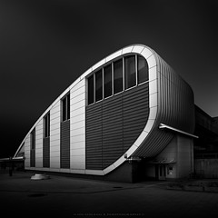 (Jin Mikami) Tags: city light architecture japan building shadow black white monochrome station shade photoshopped fineart blackandwhite geometric minimalism