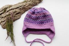 Lilac double hat (liza_kolesnik) Tags: knitting knitted hat baby babyhat kidsfashion wool handmade handicraft handknit lilac fairisle multicolor colorwork