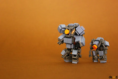 Space Troopers SB-3 and SB-1 drone (Devid VII) Tags: devid devidvii exploration sand blue power space troopers sb3 sb1 drone lego moc mech mecha drones military crew background