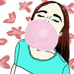 bubblegum (mfergarciaj) Tags: bubblegum girl ilustration ilustracin chicle chica