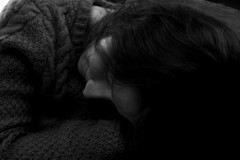 Snug (ALukeEvans) Tags: getting comfortable wooly jumper sleepy rest dark cozy fianc beauty beautiful love