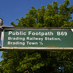 Footpath sign, Isle of Wight thumbnail