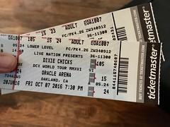 Tix (patia) Tags: dixiechicks tickets