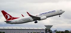 TC-JVY | Turkish Airlines | Boeing B737-8F2(WL) | CN 60024 | Built 2016 | EIDW 13/09/2016 (Mick Planespotter) Tags: aircraft airport dublinairport flight 2016 tcjvy turkish airlines boeing b7378f2wl 60024 eidw 13092016