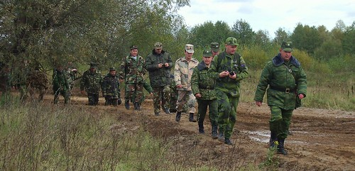 Combined-arms river crossing training. Klyazma riv. Gorokhovets. ©  Sergey G