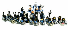 Black falcons (spaghettofil) Tags: lego castle knights black falcons custom decals stickers brickforge brick forge brickwarriors warriors