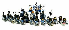 Black falcons (spaghettofil) Tags: lego castle knights black falcons custom decals stickers brickforge brick forge brickwarriors warriors