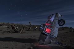 Emerging (sjimmymac) Tags: nightphotography lightpainting truck nevada