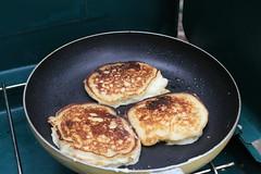 Coeymans Hollow, NY (Alaina H.) Tags: camping tipi upstatenewyork breakfast pancakes cooking