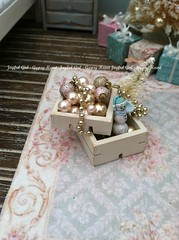 Blue Christmas (*Joyful Girl ♥ Gypsy Heart *) Tags: christmas pink blue room chic 112 diorama dollhouse shabby roombox joyfulgirlgypsyheart