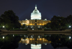 United States Capitol (TeunJanssen) Tags: reflection building pool night mall washington hill capitol congress capitolhill