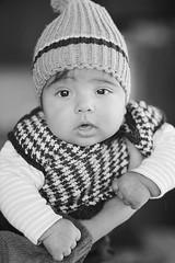 Week 7/52 (D-Focused) Tags: blackandwhite baby hat nikon child 85mm fx 52 preset 52weeks nikkor85mmf18 d700 vsco 52weeksofphotography