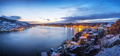 St. John's, Newfoundland, panorama of the harbour - winter scene (tuanland) Tags: city winter sunset panorama white house snow canada cold ice skyline port newfoundland landscape evening twilight nikon scenery downtown cityscape waterfront harbour dusk hill wide stjohns panoramic clear bluehour nfld atlanticcanada d600 stjohnsharbour newfoundlandandlabrador downtownstjohns nikond600
