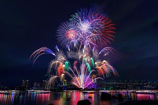Odaiba Rainbow Fireworks 2014