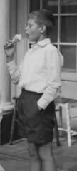 A nice ice cream (theirhistory) Tags: boy ice pee shirt seaside child cone shorts
