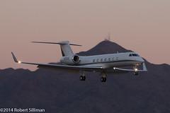 Gulfstream arriving post-sunset-8557 (rob-the-org) Tags: iso400 noflash cropped f80 250 gulfstream 135mm arriving postsunset g550 sdl ef70300mmf456isusm 1100sec ksdl n900es scottsdalemunicipalairport