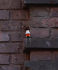 HH-Installations 1375 (cmdpirx) Tags: street urban color colour art public germany painting tile graffiti paint artist cd space raum kunst strasse glue hamburg kachel vinyl can spray installation lp marker hh farbe kleber sealant kuenstler oeffentlicher