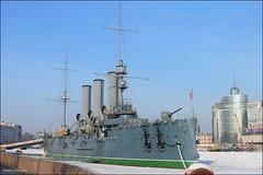 Russia, Saint Petersburg: cruiser Aurora / Санкт-Петербург: крейсер «Аврора» (Dmitry Kulakov) Tags: city russia aurora saintpetersburg neva cruiseraurora санктпетербург аврора