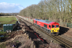 59202 6C48 Melksham 24/02/15. (Dan's Railway Gallery) Tags: stone dbs melksham wilts class59 mendiprail