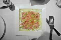 קרפצ'יו אינטיאס עם שומר, צ'ילי וליים טרי (pringle-guy) Tags: food fish nikon restaurants norman אוכל דג דגים מסעדות נורמן