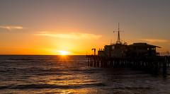 Pier sunset (Greg Leung) Tags: losangeles santamonica santamonicapier beach pier sunset