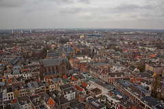 Utrecht - Zicht vanaf Domtoren naar zuidwesten (grotevriendelijkereus) Tags: old city holland tower netherlands skyline town utrecht view cathedral toren dom nederland center uitzicht centrum oud stad kathedraal historisch