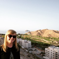 Nice view! w/ @iloverocksalot in #Muscat in our new home!